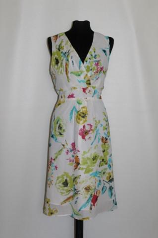 Rochie flori verde lime repro anii '60