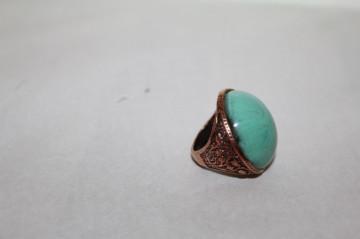 Inel piatră turcoaz repro anii 70