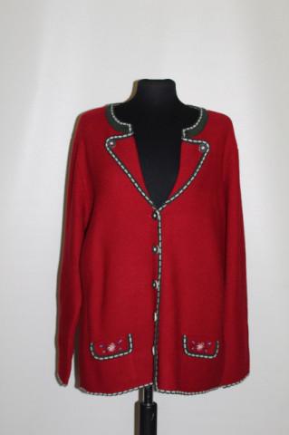 Pulover bicolor stil tirolez anii 90