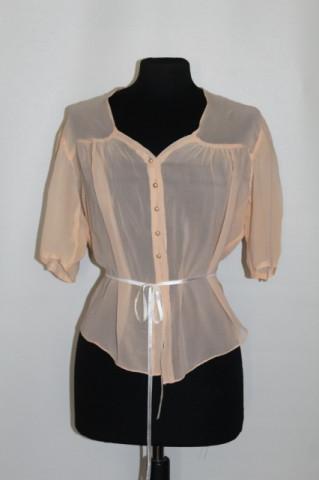 Bluza din matase naturala frez anii '30