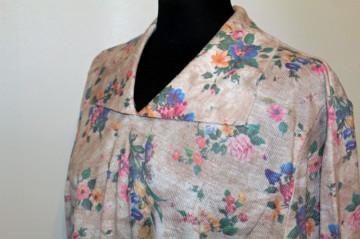 Bluza din tricot print floral anii '70