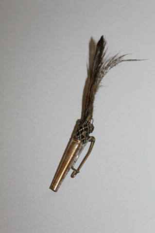 Broșă antique cu pene de fazan perioada edwardiană cca. 1900
