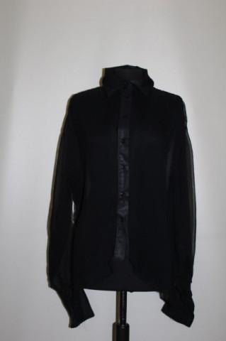 Camasa retro neagra plisata anii '90