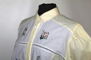 Camașă retro patchwork broderie anii 80