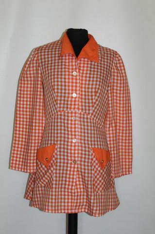Camasa vintage patratele portocalii anii '70