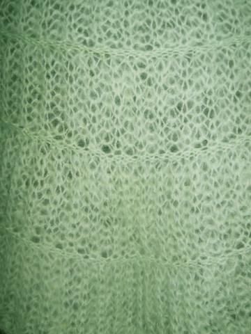 Capa din mohair verde apa anii '60