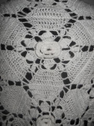 Capa vintage flori in relief anii '70