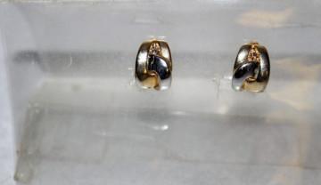 Cercei auriu cu argintiu anii '70