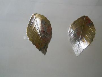 Cercei frunze argintii anii '70