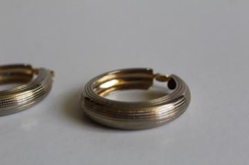 Cercei tip creole din metal auriu anii 80