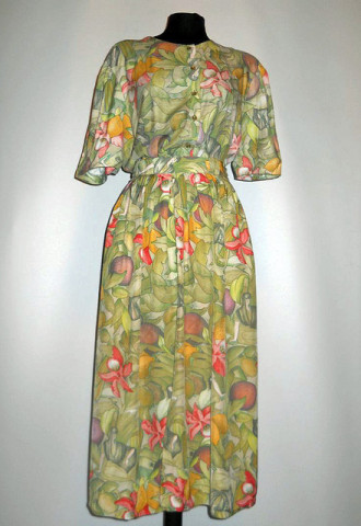 Deux pieces jungle print anii '80