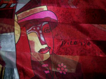 """Esarfa retro """"Picasso"""" anii '80"""