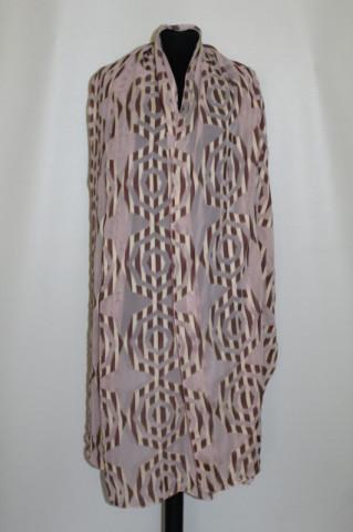 Esarfa - sal roz cu aplicatii geometrice anii '80