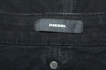 Fustă din denim negru Diesel
