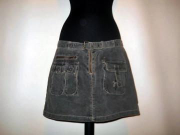 Fusta jeans gri repro anii '70