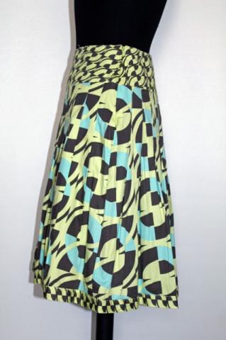 Fusta print geometric repro anii '60