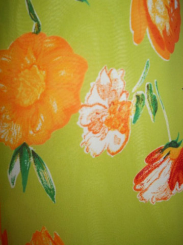 Fusta retro din chiffon print floral anii '80