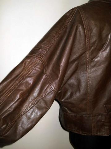Jacheta retro maro din piele naturala anii '80