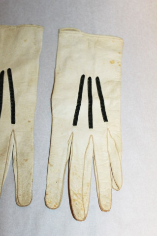 Manusi vintage ornamente din snur negru anii '20