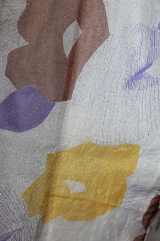 Rochie din organza print abstract anii 70