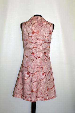 Rochie frez print floral uriaș anii 60