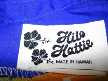 """Rochie maxi vintage """"Hilo Hattie"""" anii '70"""