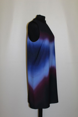Rochie print degrade albastru anii '90