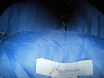 Rochie retro bleu cu volane anii '70