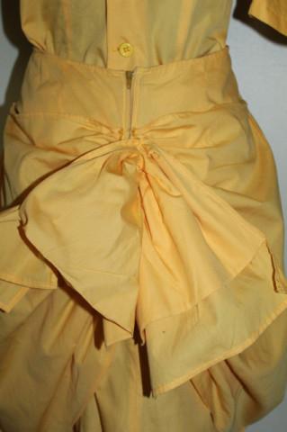 Rochie retro din poplin galben anii 80