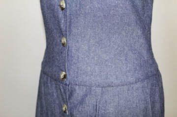 Rochie retro maxi din jeans anii '80