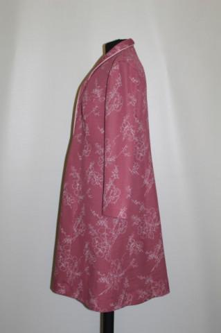 Rochie roz carne prinf floral alb anii '70