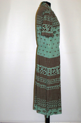 Rochie vintage din jerse verde anii 70