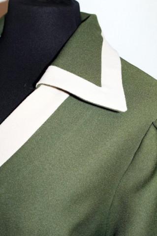 Rochie vintage mod verde muschi anii '60