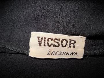 "Rochie vintage neagra ""Vicsor Bressana"" anii '20"