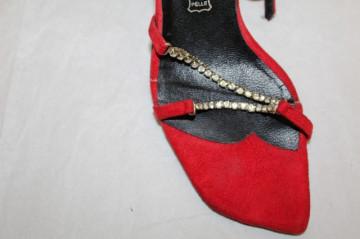 Sandale retro rosii repro anii '80