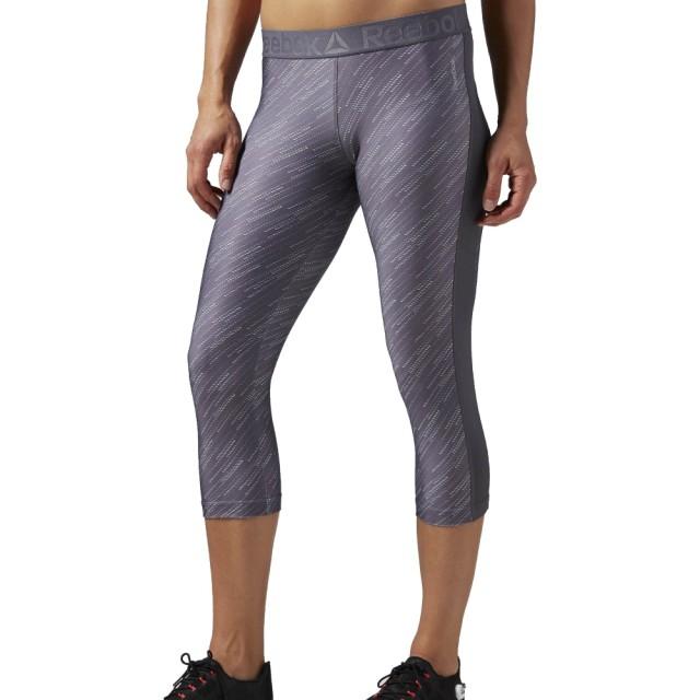 Pantaloni Reebok Workout Ready Printed Capri 3/4 pentru femei