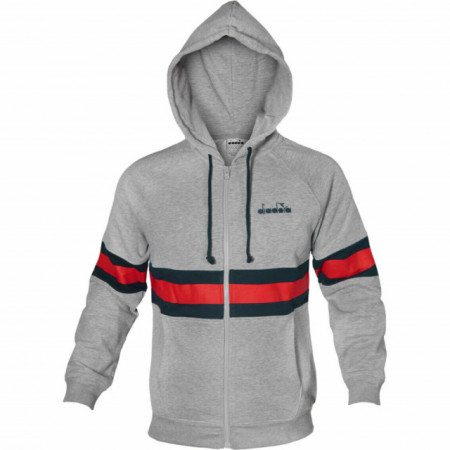 Trening Diadora Hooded FZ Brushed Core Cotton pentru barbati