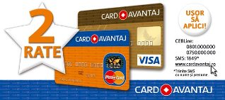 Plata in 2 rate cu Card Avantaj