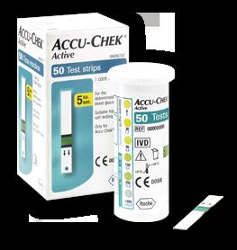 teste de glicemie Accu Chek Active