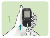 Glucometru Accu Chek Active-Introduceti testul de glicemie