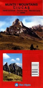 Poze Harta turistica MUNTII CIUCAS