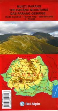 Poze Harta turistica MUNTII PARANG