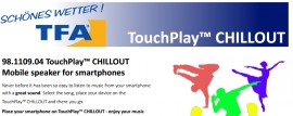 Poze Amplificator portabil wireless TFA TOUCH&PLAY-Muzica de pe smartphone!