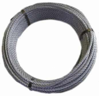 Cablu tiroliana otel zincat Ø10mm 6x19 IWRC-6.600 kgf