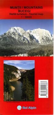 Poze Harta turistica MUNTII BUCEGI