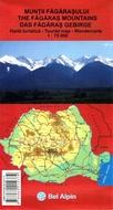 Harta turistica MUNTII FAGARASULUI