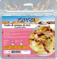 Cartofi gratinati cu branza si sunca afumata - 125 g