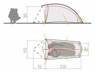 Cort VAUDE Invenio SUL 2P /super-ultralight 2 pers.