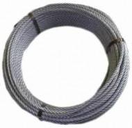 Rola 50m Cablu tiroliana otel zincat Ø12mm 6x19+WSC, 9.200kgf