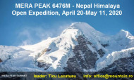 "Expeditie ""open"" MERA PEAK - 6467m - Nepal Himalaya"